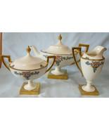 American Belleek by Lenox Art Deco or Nouveau Tea Pot, Sugar & Creamer  - $851.29
