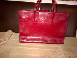 Pelle business large red leather bag - $70.00