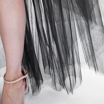 Black Slit Tulle OVERSKIRT Elastic Waist hilo Tulle Skirt Open Skirt Over Skirt image 6