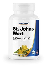 Nutricost St John's Wort Capsules 500mg 120 Capsules- Gluten Free and Non-GMO