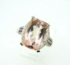 14k Gold Huge 10 Carat Genuine Natural Morganite and Pink Sapphire Ring ... - $895.00