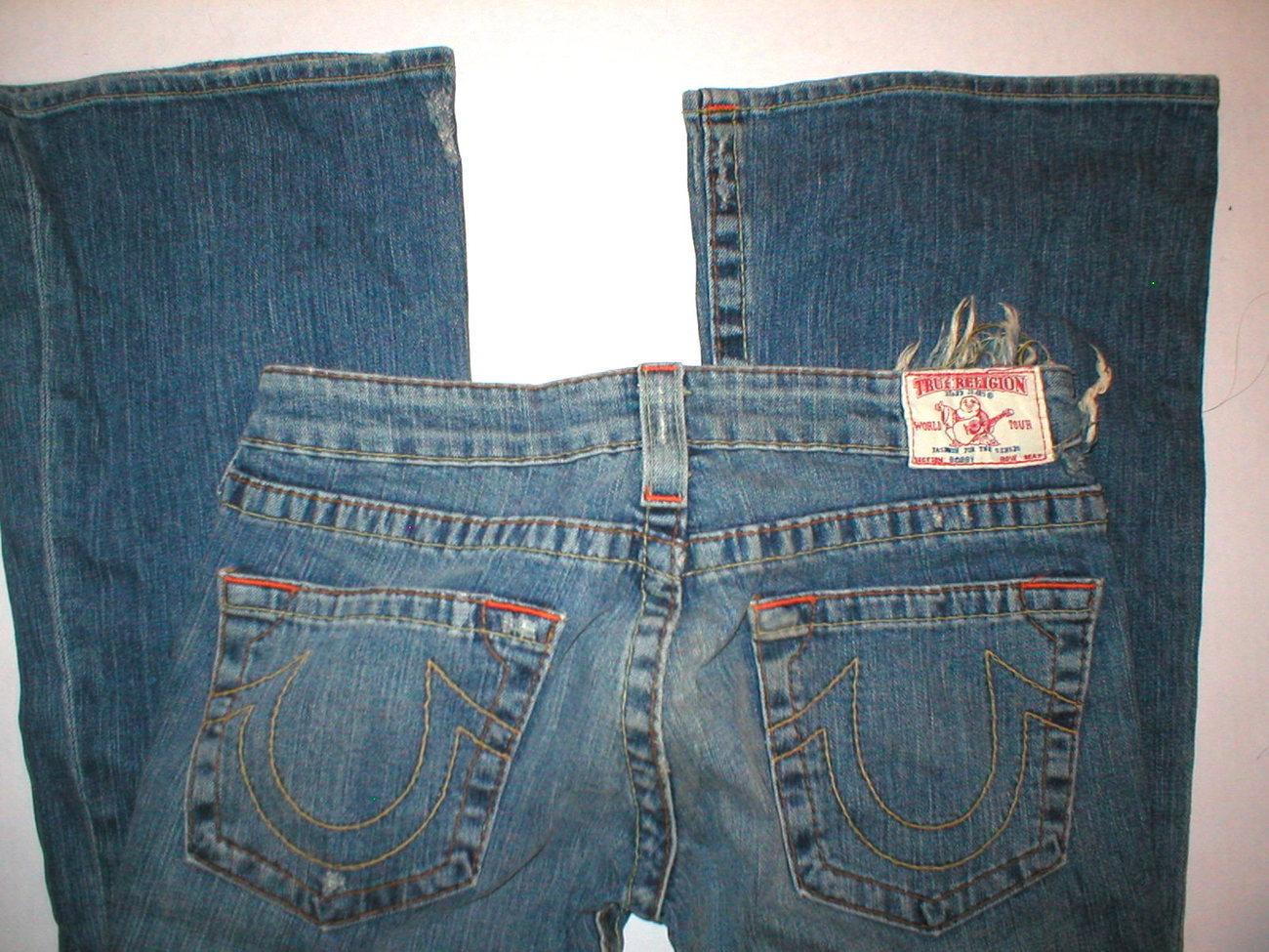 New Womens True Religion Bobby Jeans 30 X 32 Distressed True Religion