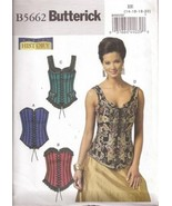 Butterick B5662 Making History Misses' Laced Corsets Pattern 14-20 - $8.95