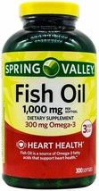 Spring Valley Omega-3 Fish Oil Soft Gels, 1000 mg, 300 Count.. - $25.73