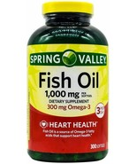 Spring Valley Omega-3 Fish Oil Soft Gels, 1000 mg, 300 Count..+ - $39.99