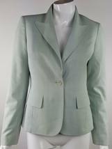 Anne Klein Womens Size 2 Light Blue / Gray Button Up Career Blazer Lined - $13.99