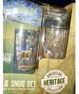 Mug and Snug Deer Travel Mug and Fleece Throw Set Wildlife Scene James M... - $29.99