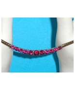 Technibond Created Ruby or Pink Sapphire Omega Necklace  - $97.00