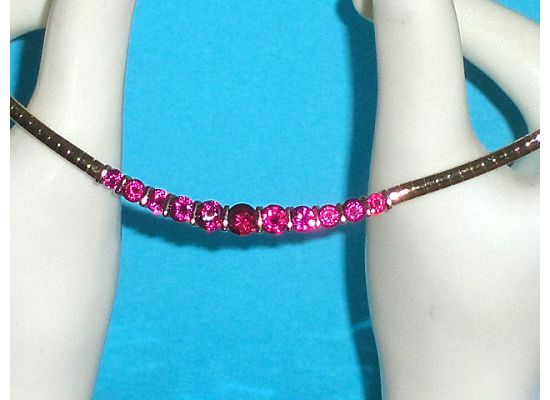 Technibond Created Ruby or Pink Sapphire Omega Necklace