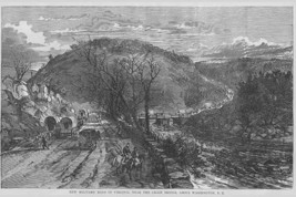 Military Road with Conestoga wagons in Virginia near Washington by Frank Leslie  - $19.99+