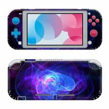For Nintendo Switch Lite Protective Vinyl Skin Wrap Purple Swirl Decal  - $12.84