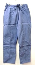 Scrub Pants L Ceil Blue Premier Uniforms Elastic Drawstring  Bottoms Women New - $13.55