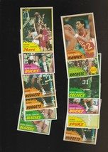 1981-82 Topps Basketball 18 Card Lot Wax Stains - $4.75