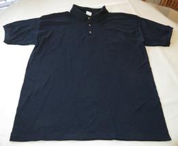 Gildan Activewear Ultrablend Heavyweight adult XXL 2xl mens Navy polo shirt NOS - $13.36