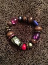 "Multi Color Beaded Stretch Bracelet 7"" To 8"" - $1.90"