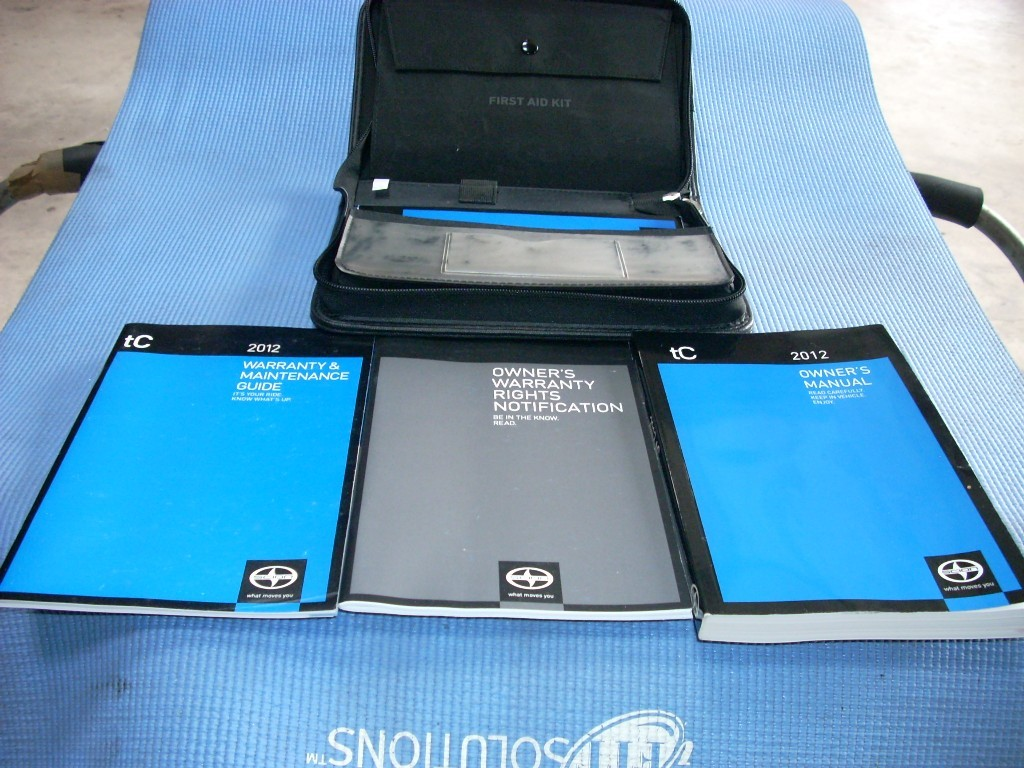 2012 SCION TC OWNERS MANUAL BOOK GUIDES SET GENUINE OEM