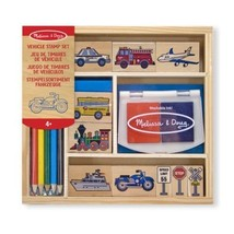 Melissa & Doug 12409 Vehicle Stamp Set  - $20.00