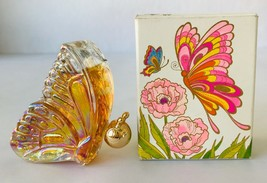 Vintage 1972 Avon Butterfly Bottle Unforgettable Cologne in Box Nearly Full - $24.18