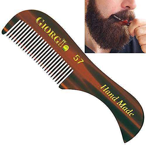 "Giorgio G57 2.75"" X-Small Men's Fine Toothed Beard and Moustache Combs Pocket Si"