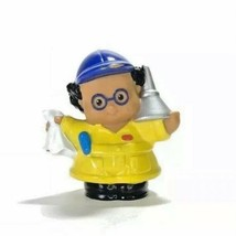 Fisher Price Toy Little People Mechanic Yellow Coveralls Funnel Rag Blue... - $10.89