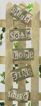 Roman Set of 5 Better Homes & Gardens Inspirational Home Wall Plaques #2... - $14.84