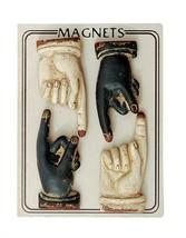 Set 4 This Way Hand Magnet Black White Home Dec... - $8.95