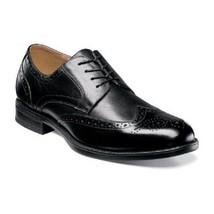 Florsheim Men's Shoes Midtown Wingtip Oxford  Black Leather 12139-001  - $115.00