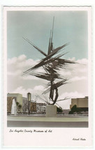 Space Sculpture Los Angeles County Art Museum CA Color Tinted RPPC postcard - $6.93