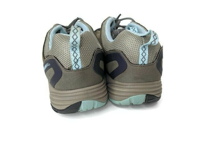Merrell Womens 10 Avian Light Ventilator Leather Hiking Dusty Olive Green & Blue
