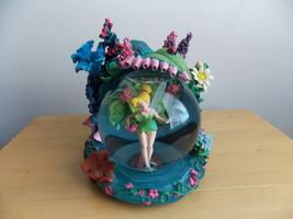 Disney Tinker Bell Animated Garden Musical Snowglobe  - $150.00