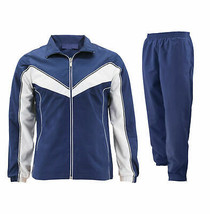 Women's Casual Jogger Gym Fitness Running Working Out Navy Tracksuit Set