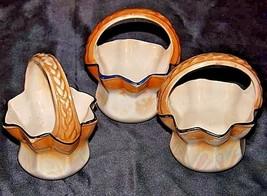 Czechoslovakia Ceramic Baskets AA18-1368-E Vintage image 2