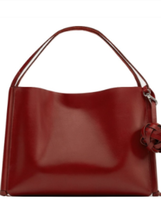 ZARA RARE TASSELED LEATHER TOTE BAG BNWT RED BLOGGERS FAVE  - $3.057,13 MXN