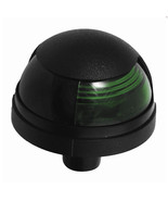 Attwood Pulsar™ 1-Mile Deck Mount Green Sidelight - 12V - Black Housing - $28.24