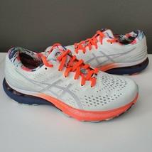 ASICS Gel Kayano 28 White Thunder Blue Shoes Athletic Running Lace Up Wo... - $108.85