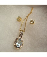 Blue Topaz Necklace and Earring Set - $45.00