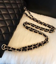 100% Authentic Chanel 2015 Black Quilted Lambskin Jumbo Classic DOUBLE Flap Bag  image 2