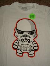 Star Wars Stormtrooper Kawaii Glow In Dark T-Shirt XL - $9.99