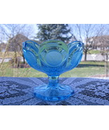 Fostoria Blue Coin Footed Jelly/Candy/Mint Dish  - $24.00
