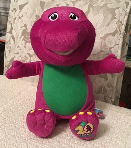 Barney 20th Anniversary Sing & Celebrate Plush - 3 Songs, 2 Fun Phrases
