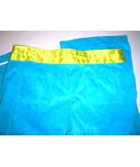 New Pick Me Velour Capris Aqua Blue Yellow Womens Medium Crop M Bright  - $10.00