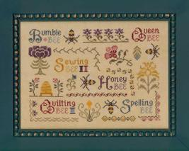 Antique Bee Sampler w/BONUS chart cross stitch chart Elizabeth's Designs  - $8.10