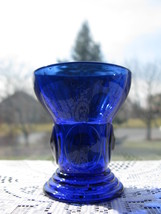 New Martinsville Cobalt Blue Moondrops Shot Glass/Tumbler - $22.00