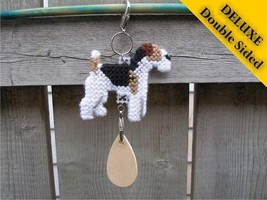 Wire Fox Terrier Deluxe crate tag 2 sided, hang anywhere agility dog show kennel - $16.00