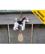 Wire Fox Terrier Deluxe crate tag 2 sided, hang... - $16.00
