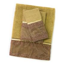 3 Piece Towel Set- Bronze Popular Bath Chateau Bathroom Collection - $31.99