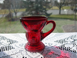 New Martinsville Ruby Moondrops Handled Tumbler/Shot Glass - $17.00