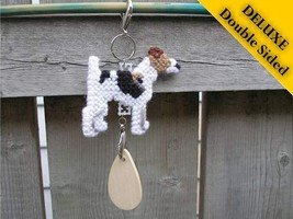 Smooth Fox Terrier Deluxe crate tag art, hang anywhere, agility dog show... - $16.00