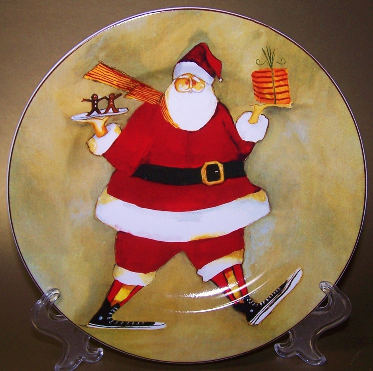 Oneida China Christmas Plate Super Size Santa C