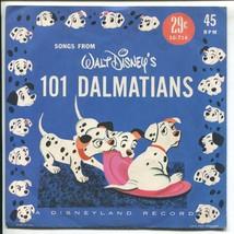 "Vtg 1960s Songs From Walt Disney's 101 Dalmations 45 RPM 7"" LG-714 Disne... - $19.99"